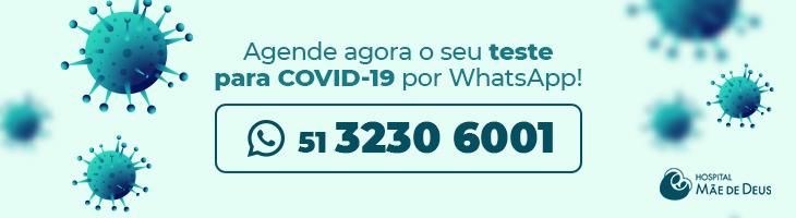 Agende seu teste para COVID-19 por Whatsapp