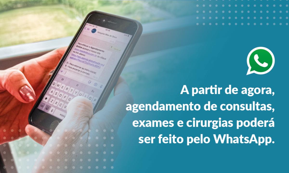 Agendamento de consultas, exames e cirurgias via Whatsapp